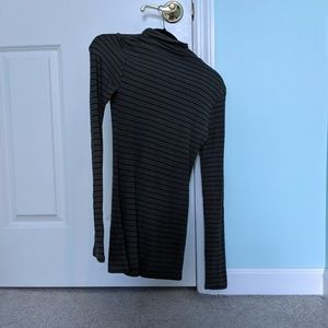 NWOT Turtle Neck Striped Tee